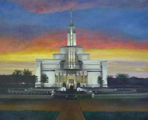 Draper Temple Sunset
